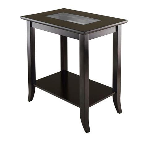 Amazonm Winsome Genoa Rectangular End Table With Glass. Modern Supply. Modern Vanities. Behr Swiss Coffee. Printer Cabinet. Stone Walk In Shower. Cat Proof Furniture. Corner Kitchen Sink. Platypus Furniture