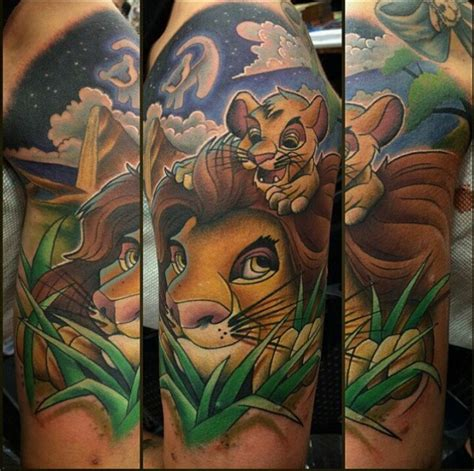 lion king short sleede tattoo disney tattoo pinterest