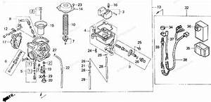 Honda Atv 1998 Oem Parts Diagram For Carburetor