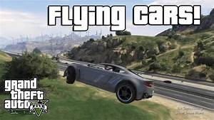 GTA V: Flying Cars! (Low Gravity Cheat Code) - YouTube