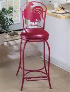 Red Rooster Bar Stools Metal