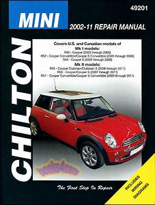 Shop Manual Mini Cooper Service Repair S Book Chilton