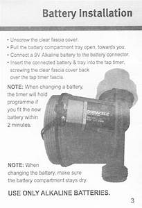 Aqua Systems Electronic Digital Tap Timer Instruction