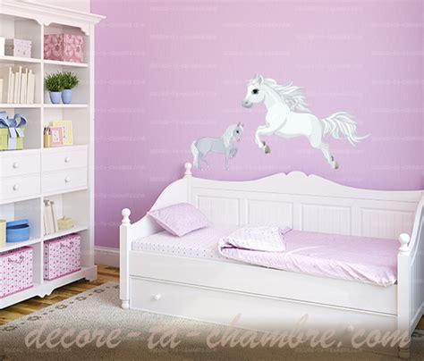 chambre cheval fille stickers cheval blanc pour chambre de fille vente