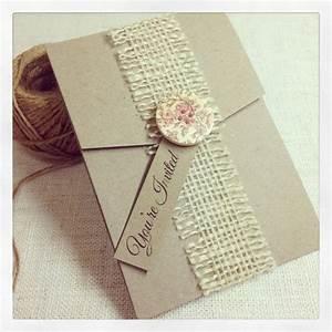wedding invitation kraft pocket pocketfold burlap With bay photo wedding invitations