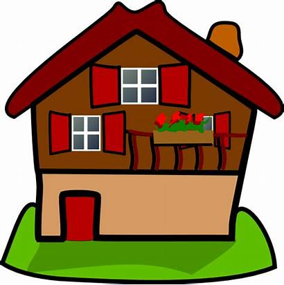 Cartoon Clip Houses Homes Clipart Cartoons Clker