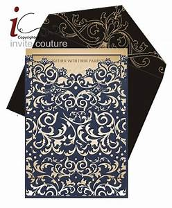 custom lasercut luxury wedding invitation pocket by With custom laser cut wedding invitations uk