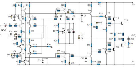 Watt High Power Amplifier Diagram Circuit