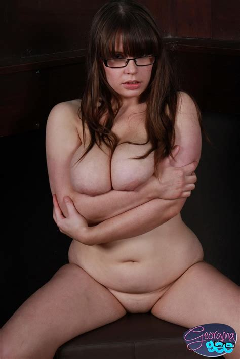 Curvy Georgina Loves Teasing By Playing With Her Big Boobs