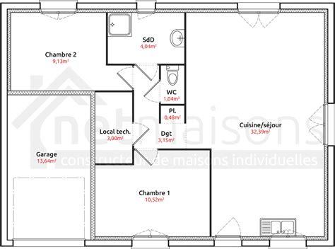 plan maison plain pied 1 chambre plan maison plain pied 1 chambre 8 immobilier pour tous