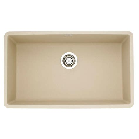 blanco single bowl sink blanco precis super undermount granite 32 in 0 hole