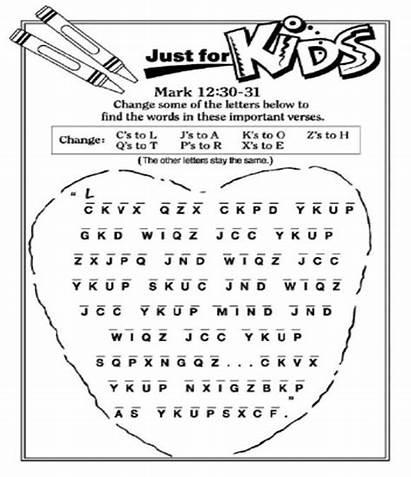 Greatest Bible Commandment Commandments Pages Puzzle Coloring