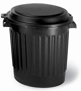 Cache Poubelle Brico Depot : poubelle 80l noir avec couvercle poubelles et conteneurs ~ Dailycaller-alerts.com Idées de Décoration