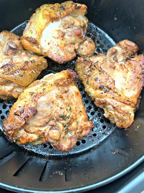 thighs chicken fryer air cilantro keto low lime carb marinated cook recipes frozen fried recipe cooking oven long temperature staysnatched