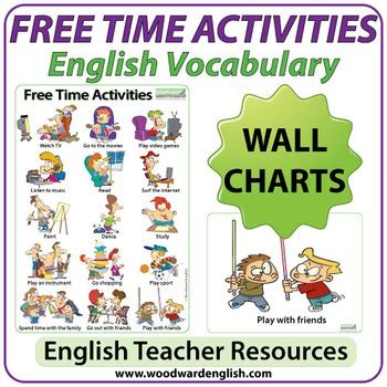 esl  time activities charts flash cards