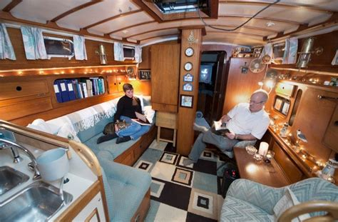 Living On A Boat Uk by Boat Houses And Interiors Boat House Interior Blue