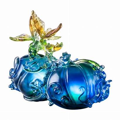 Crystal Figurines Butterfly Animal Prosperity Paperweight Fruits