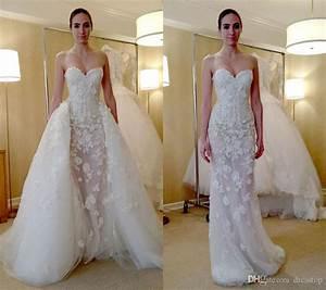 fashion zuhair murad overskirt wedding dresses mermaid With overskirt wedding dress