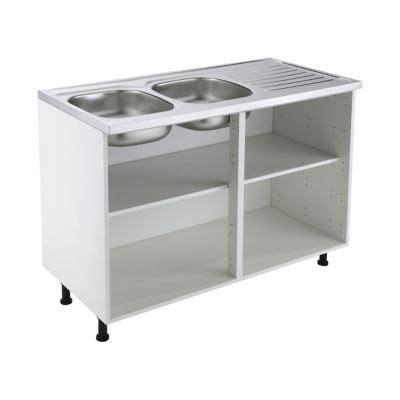 caisson sous evier cuisine meuble sous évier 120 cm blanc castorama