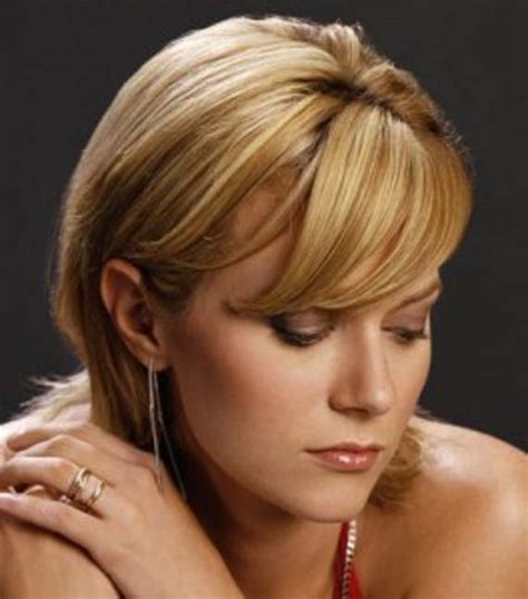 short hairstyles for round faces and thick hair fashion