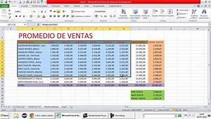 Promedio de Ventas en Excel YouTube