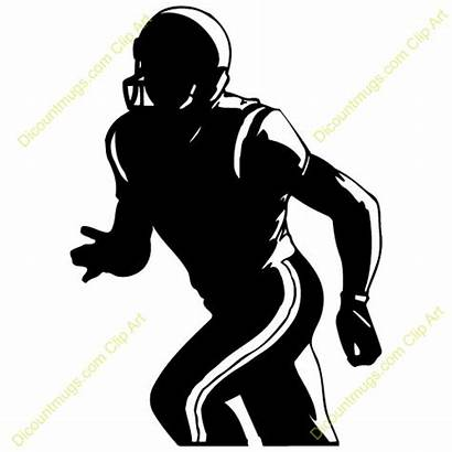 Receiver Wide Football Player Clipart Clip