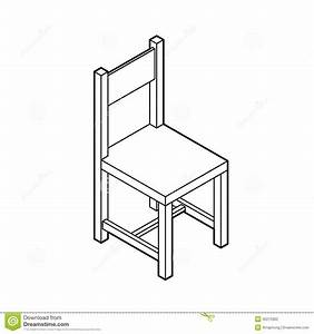 Isometric Chair Vector Stock Vector - Image: 40215992
