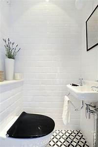 comment amenager une petite salle de bain With salle de bain mosaique blanche