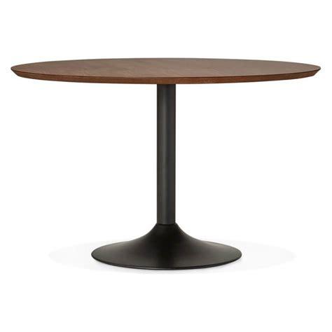 table de repas ronde vintage scandinave galon en bois