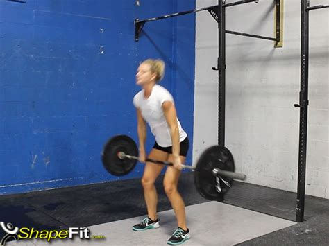 crossfit jerk clean exercise guide squat