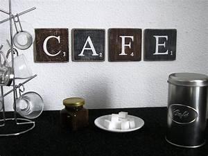 Lettre Decorative Cuisine : lettres d coratives cafe pour une d coration murale de cuisine caf bar une jolie ~ Teatrodelosmanantiales.com Idées de Décoration