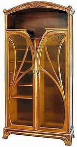 Arts And Crafts Möbel : art nouveau two door bookcase design jugendstil jugendstil m bel und m bel ~ Orissabook.com Haus und Dekorationen
