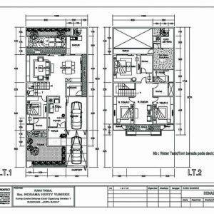 denah rumah minimalis  lantai type  denah