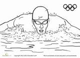 Coloring Swimmer Olympic Worksheet Swim Worksheets Swimmers Olympics Education Swimming Sheets Sport Clipart Google Games Race Activities Pattern Frame Gr sketch template