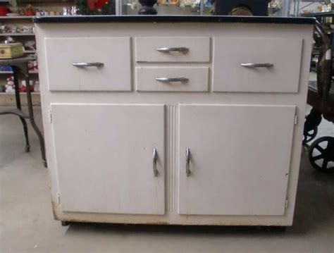 Vintage Steel Kitchen Cabinets For Sale by Vintage Porcelain Top Kitchen Cabinet Painted Ebay