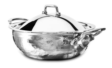 mauviel melite hammered stainless steel casserole  quart cutlery