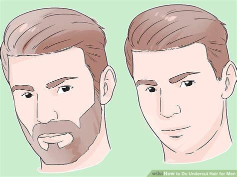 undercut hair  men  pictures wikihow