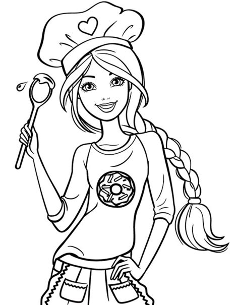 chef barbie coloring page coloring pages barbie coloring barbie drawing barbie coloring pages