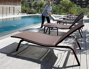 Piscine Soleil Service : bains de soleil pour professionnel fermob ~ Dallasstarsshop.com Idées de Décoration