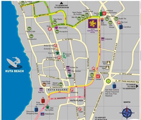 map  hotel  kuta guess whos   bali