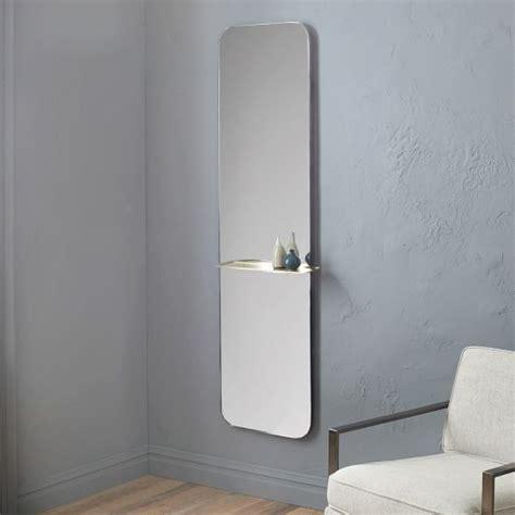 floor mirror shelf floating shelf floor mirror west elm