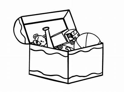 Coloring Box Toy Toys Pages Drawing Kid