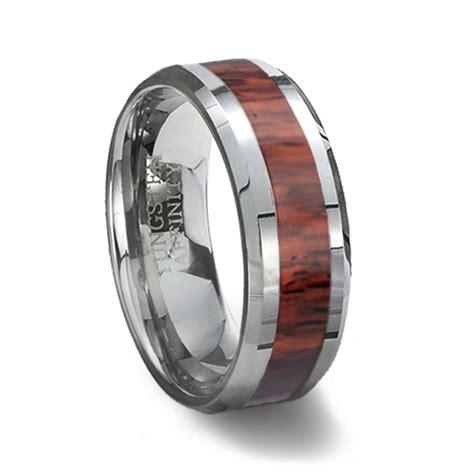 Tungsten Carbide Ring & Wood Inlay  Wood Wedding Ring