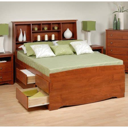 Captains Bed With Bookcase Headboard by Captain S Platform Storage Bed W Bookcase Headboard