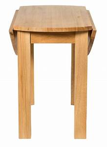 Waverly Solid Oak Drop Leaf Kitchen Dining Round Table
