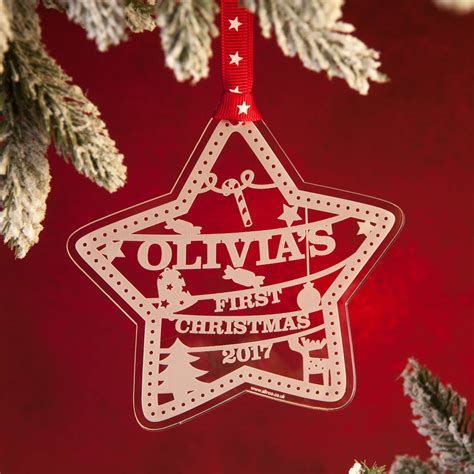 personalised babys  christmas decoration  aliroo