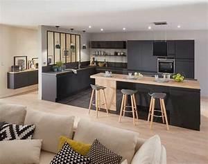 La verriere interieure en 62 idees pour toute la maison for Idee deco cuisine avec meuble salle a manger contemporain