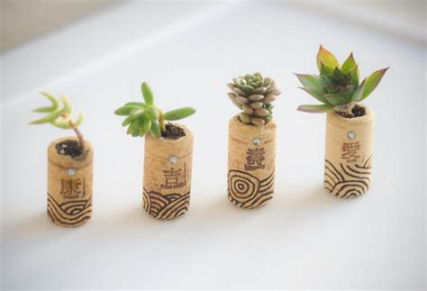 Cork Planters Kreative Bastelideen cork planters 221 upcycling ideas that will your