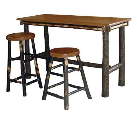 amish hickory rectangle pub table