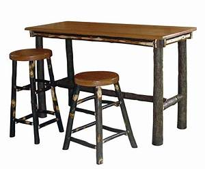 Amish Hickory Rectangle Pub Table
